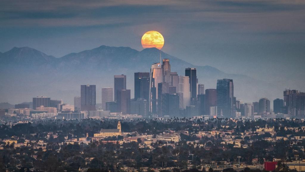 Moonrises in California